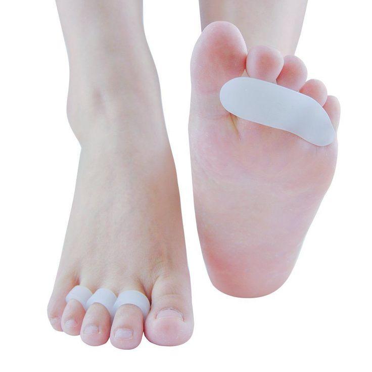 Hammer Toe Cushions Hammer Toe Straightener Toe Pads Pain Relief White 2 Pairs #Welnove