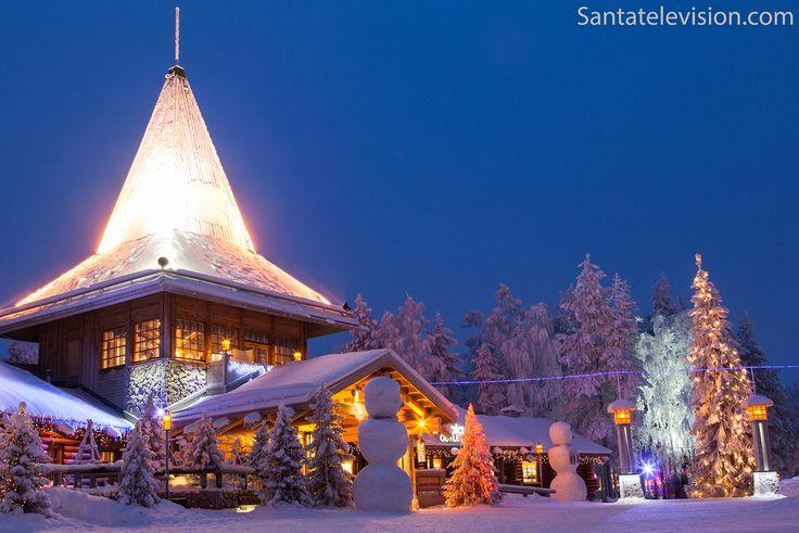Aldeia do Pai Natal em Rovaniemi na Lapônia na Finlândia