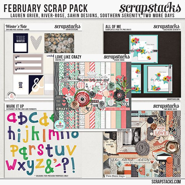 <p> The Scrap Pack is back! Get an amazing value when you purchase our monthly Scrap Packs! Sales of the Scrap Pack are used to maintain the site, so show your support by purchasing it today!</p>