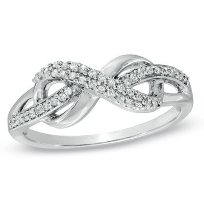 LOVE this diamond infinity ring!!