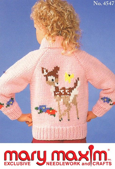 Knit this sweater using Mary Maxim Titan yarn.