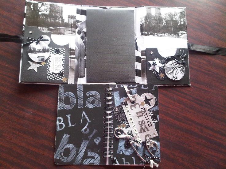 Intérieur carnet noir & blanc USA