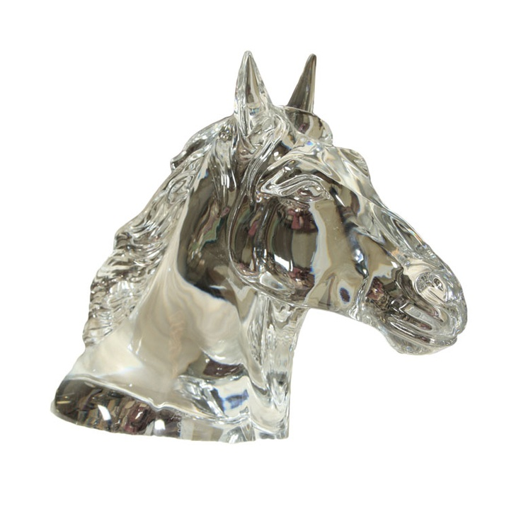 Baccarat horse head trophy by