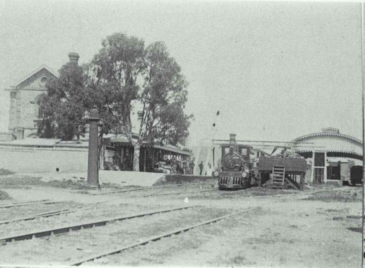 Gawler Railway Station in 1860. Located on the Gawler Central line.Situated in the South Australian town of Gawler,39.8 km from Adelaide Station.The station opened in 1857.