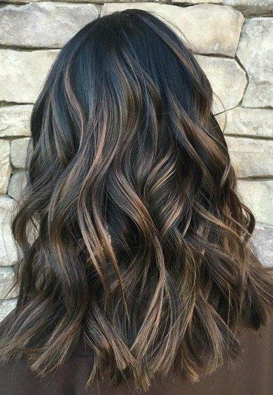The 25 best highlights for black hair ideas on pinterest black black hair with brown highlights black and roasted cacao bean brown pmusecretfo Choice Image