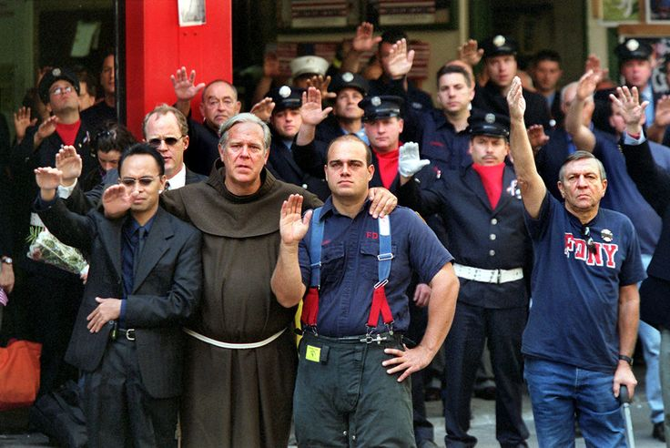 the funeral for Father Judge who died on 9/11 after giving last rites to a firefighter.