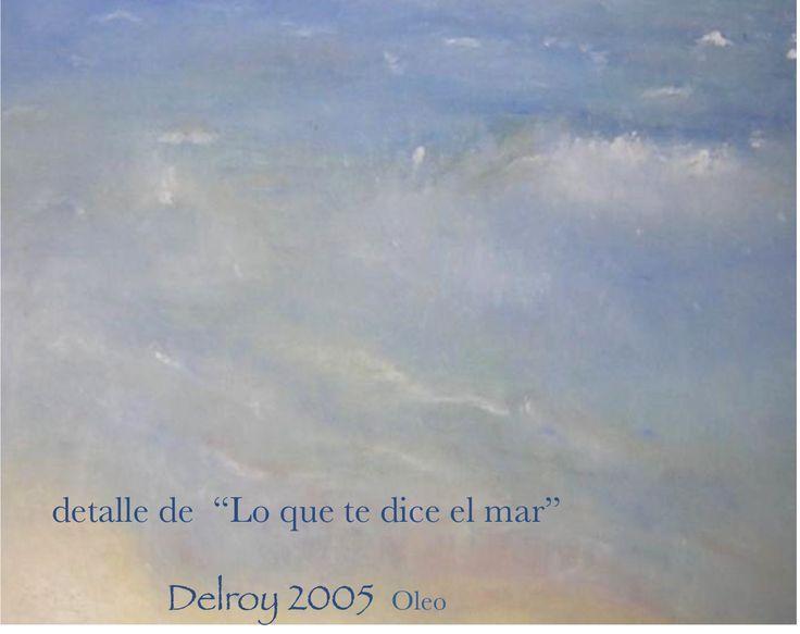 """Delroy Oleo detalle de """"lo que te dice el mar"""""""