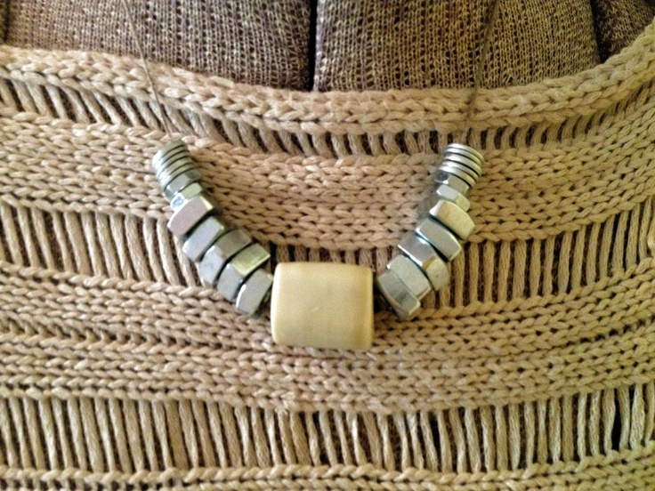 Washer and Nut Beaded Necklace