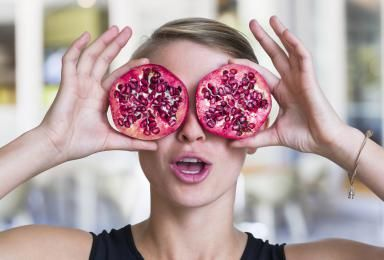Can Fighting Oxidative Stress Improve Your Health?: Pomegranates are a food source of antioxidants.