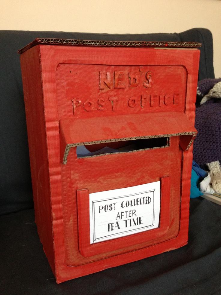 Cardboard postbox