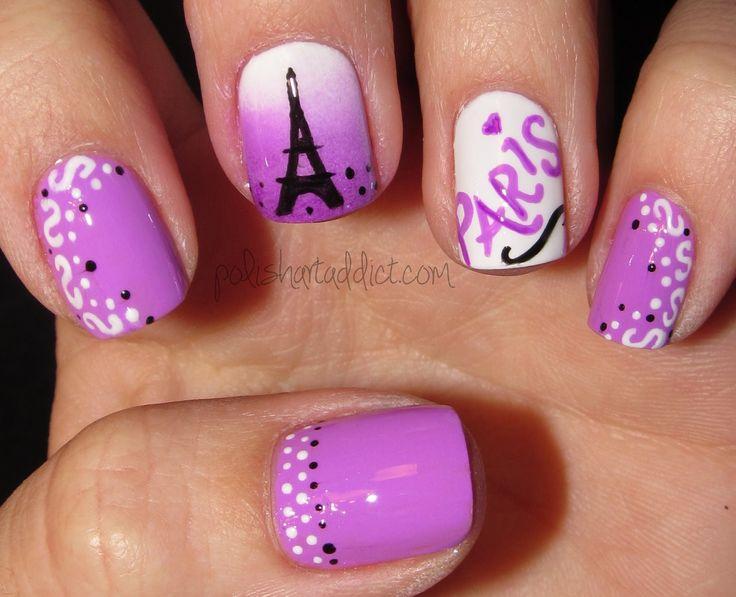 Purple Paris - Polish Art Addiction #nailart #nails #mani