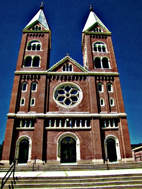 St. Benedict's Church -    On the campus of Benedictine College in Atchison, Kansas