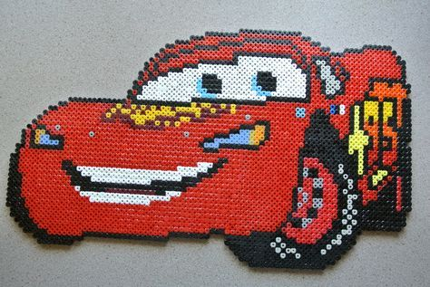 Flash McQueen Cars hama beads by taxie25