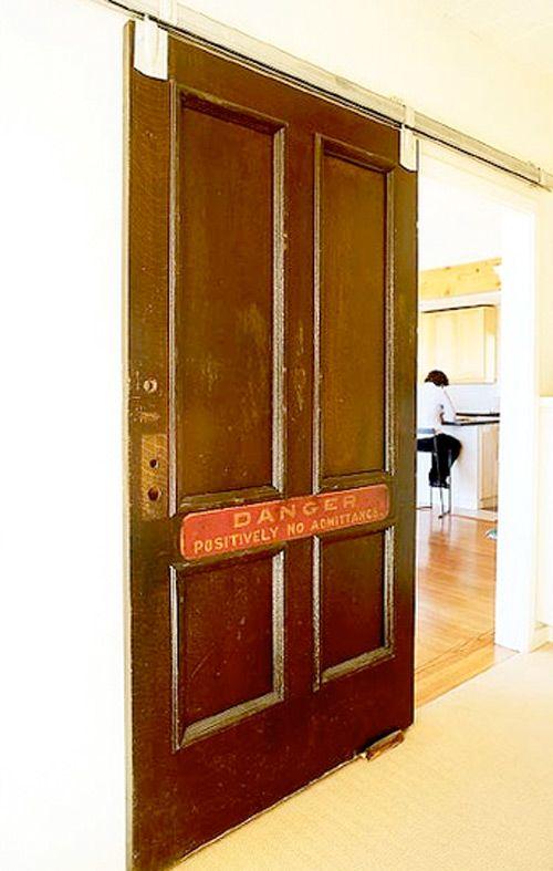33 id es de portes coulissantes d co vintage 32 and deco - Deco porte coulissante ...