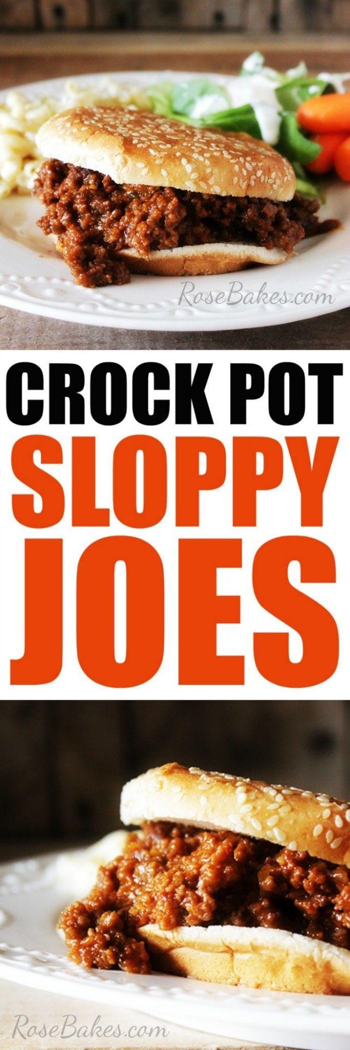 Easy Crock Pot Sloppy Joes by RoseBakes