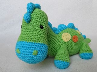 Every child (and not only a child) needs a friend to talk to, to share secrets and play with. Make such a friend with your hands full of love. Crochet a happy dinosaur to be a best friend for your little one.