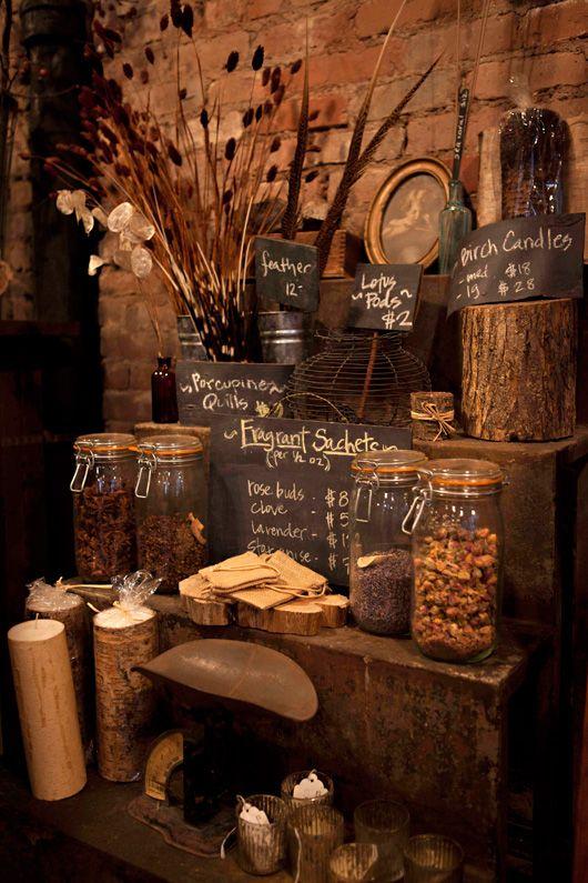 Simple, earthy store display