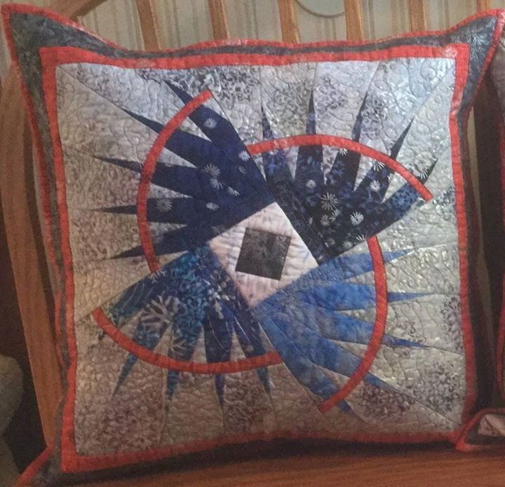 Rocky Mountain Bear Claw Pillow, Quiltworx.com, Made by Allie Brown