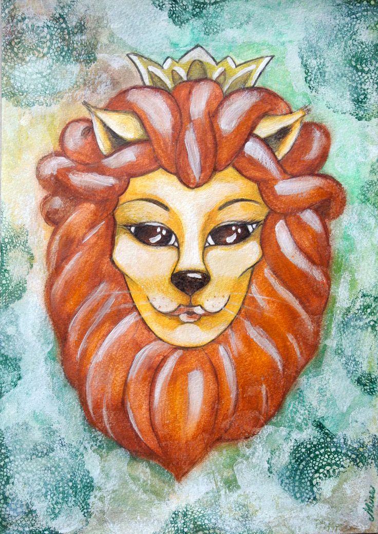 Leonessa è sempre sinonimo di forza e coraggio... quante leonesse ho conosciuto nella mia vita. Donne meravigliose che vivono ogni giorno con grinta, donne dall'animo puro nonostante le loro disavventure. Creature ordinarie di magia straordinaria... questo mio lavoro è dedicato a loro. ME LO DEDICO DA SOLA!!!