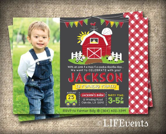 Farm Invitations Old McDonald Invitations Farm by LIFEvents
