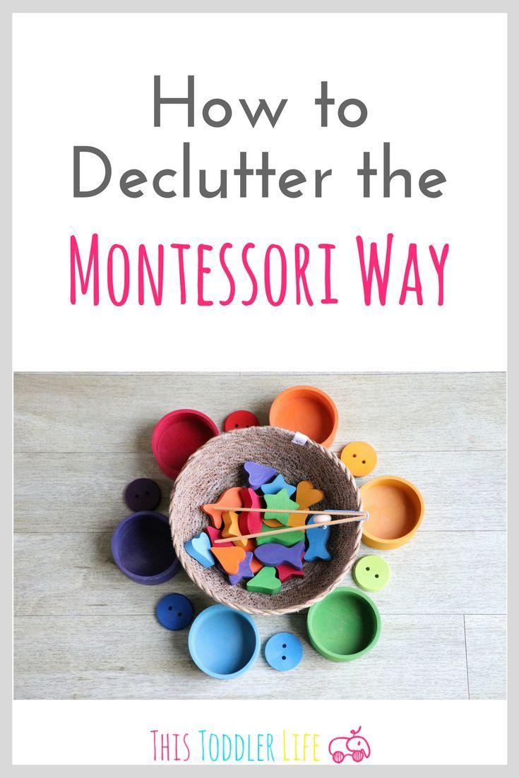How to declutter the Montessori Way. Declutter your home | Montessori Home | #montessori #montessorihome #declutter #home #montessoritoddler #montessoriresources