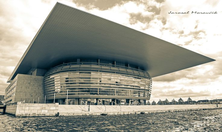 New modern building of opera in Copenhagen, Denmark
