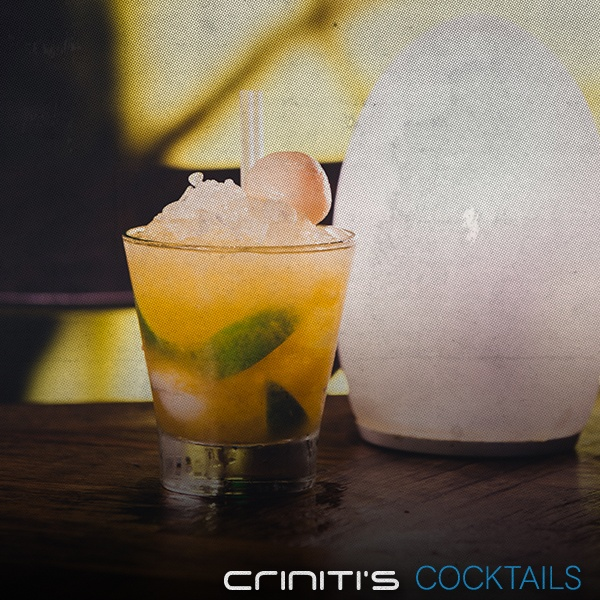 Lychee Caprioska: Vodka, lychee liqueur, lychee juice with a twist of lime