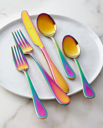 Rainbow Kitchen Decor: Mepra 5-Piece Natura Rainbow Flatware Place Setting