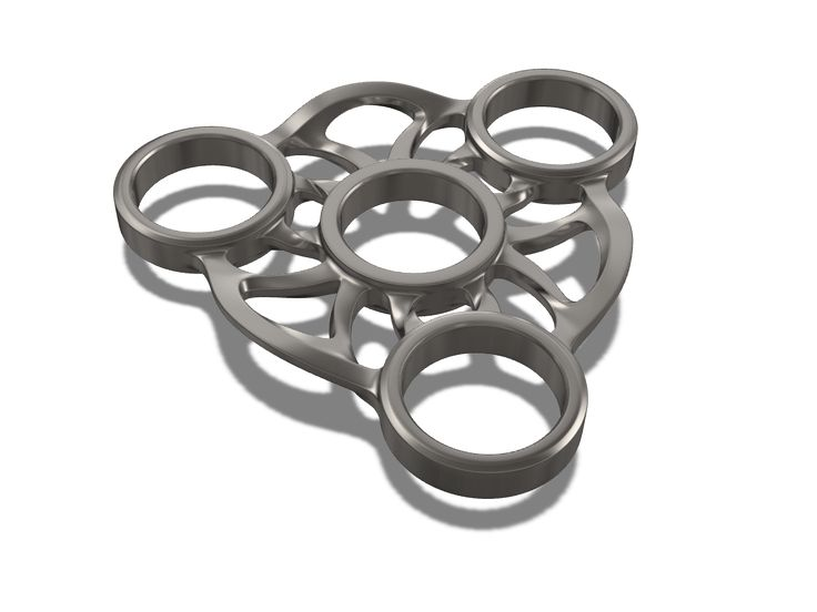 Fidget spinner - a 3D model by Adrian Mankovecký | VECTARY    fidget spinner, had spinner, free 3D model, 3D printing, 3D print, finger spinner, toy, diy