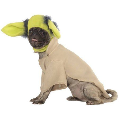 Yoda Dog Costume, Large, Blue