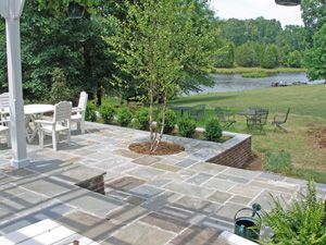 beautiful bluestone patiowith a view get help with creating your patio - Bluestone Patio Ideas