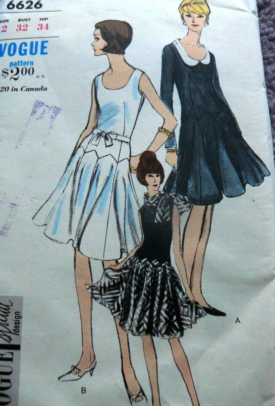 LOVELY VTG 1960s DRESS VOGUE SPECIAL DESIGN Sewing Pattern 12/32