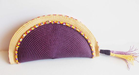 semi circle clutch bright summer colours absolute by mademeathens