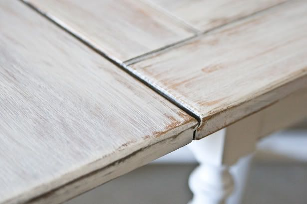 White Washed - instructions for white washing this table.