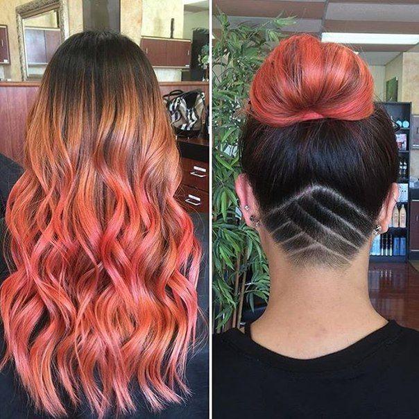 Best 25 undercut long hair ideas on pinterest long hair with long hair pink ombr topknot undercut hair tattoo urmus Image collections
