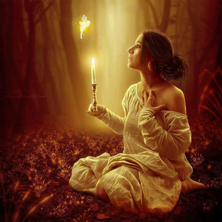 Image result for candles and past lives fantasy art
