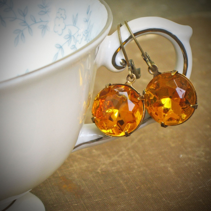 Pretty earrings for late summer and fall...
