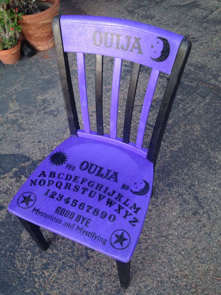 Ouija board chair Halloween decor inspired from a favorite pin❤️
