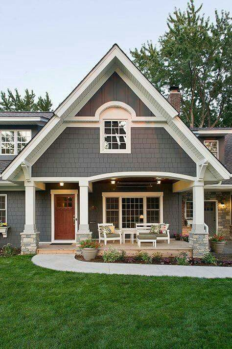 120 best Homes images on Pinterest | Exterior homes, Exterior colors White Home Exterior Craftsman Design on white country homes exterior, white vinyl siding exterior, white southern homes exterior,