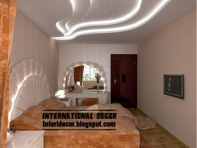 Modern Pop False Ceiling Designs For Bedroom Interior, Gypsum False Ceiling Part 91