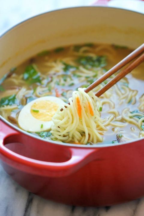 Easy Homemade Ramen - The easiest ramen you will ever make in less than 30 min. And it's so much tastier (and healthier) than the store-bought version!