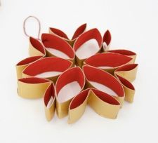 Stylish christmas decorations from toilet rolls — instructions on the blog