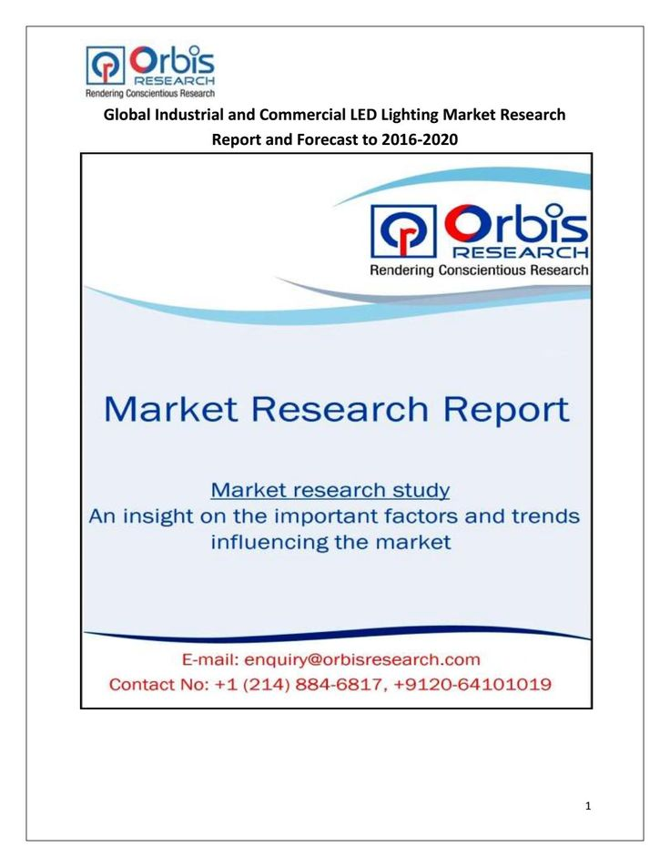 Global Industrial and Commercial LED Lighting Market @ http://www.orbisresearch.com/reports/index/global-industrial-and-commercial-led-lighting-market-research-report-and-forecast-to-2016-2020 .