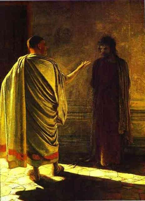 Christ and Pilate - Nikolay Gay