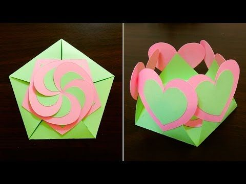 Gift envelope sealed with hearts - learn how to make a gift card with interlocking hearts - EzyCraft - YouTube