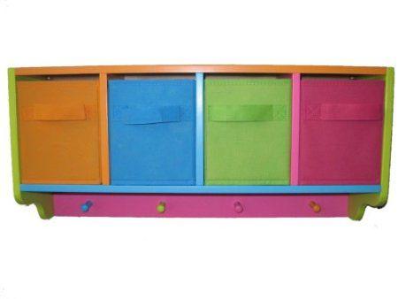 """Zeller 13466 Kinder-Wandgarderobe """"Color"""", MDF / Vlies 61 x 16 x 28: Amazon.de: Küche & Haushalt"""