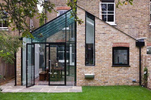 We love creating glass gables just like this. Great work! www.methodstudio.london