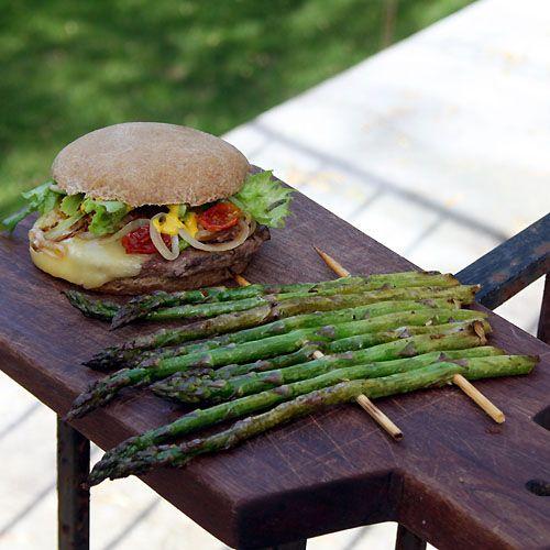 Garlic Balsamic Grilled AsparagusCarb Recipe, Cheese Burgers, Baby Dos, Asparagus Recipes, Diabetes Food, Gestational Diabetes, Baby Mama, Diabetes Recipe Gestational, Diabetes Burgers