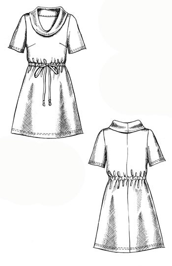simple dress, maybe use the  Renfrew as a base, no bust darts