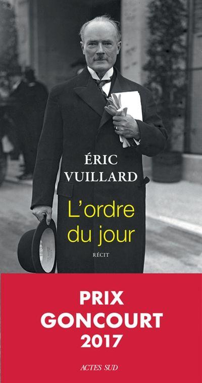 L'ordre du jour : récit / Éric Vuillard.